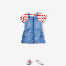 Denim Pinafore  BRIGHT SKY WASH  hi-res