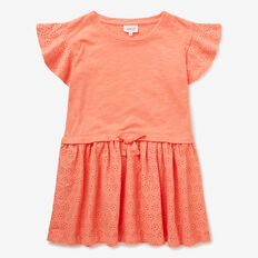 Pigment Splice Dress  TANGERINE  hi-res