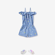 Daisy Denim Playsuit  CORNFLOWER  hi-res