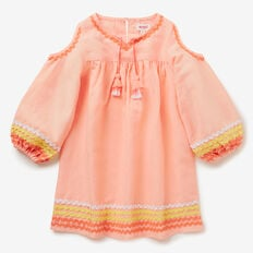 Ric Rac Dress  PASTEL PEACH  hi-res