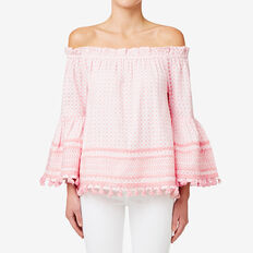 Textured Contrast Top  SOFT PINK  hi-res
