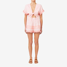 Knot Front Playsuit  SOFT PINK  hi-res