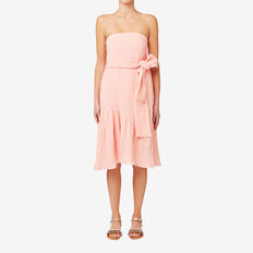 Frill Hem Dress  SOFT PINK  hi-res