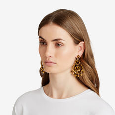 Bead Feature Earrings  BRONZE  hi-res