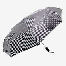 Compact Umbrella  WHITE/BLACK STRIPE  hi-res