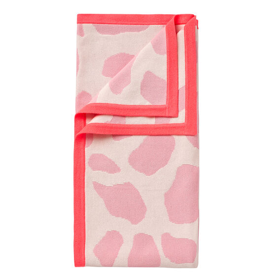 Animal Yardage Blanket  CORAL PUNCH MARLE  hi-res