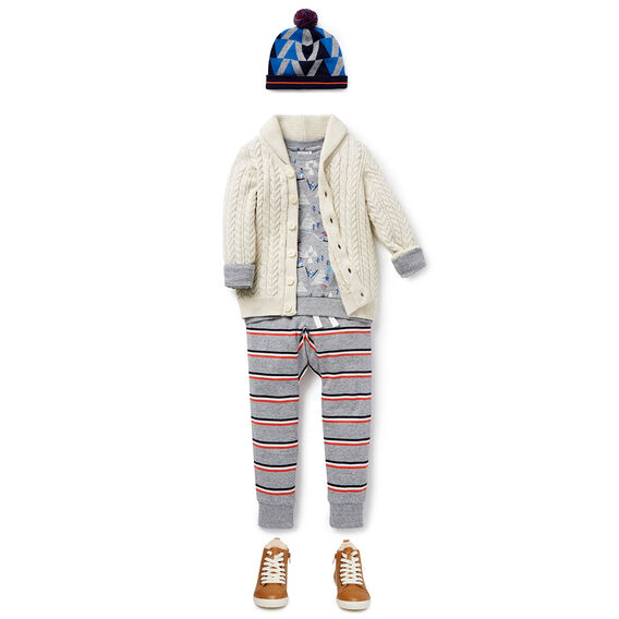 Cable Knit Cardigan  OATMEAL MARLE  hi-res