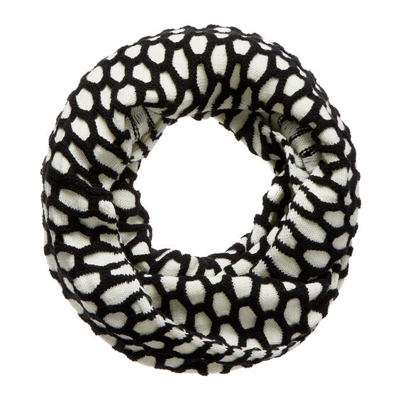 Grid Weave Snood  BLACK/WHITE  hi-res