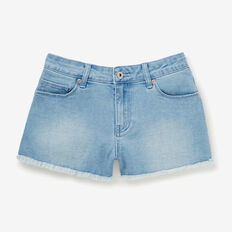 Frayed Denim Short  TRUE BLUE  hi-res