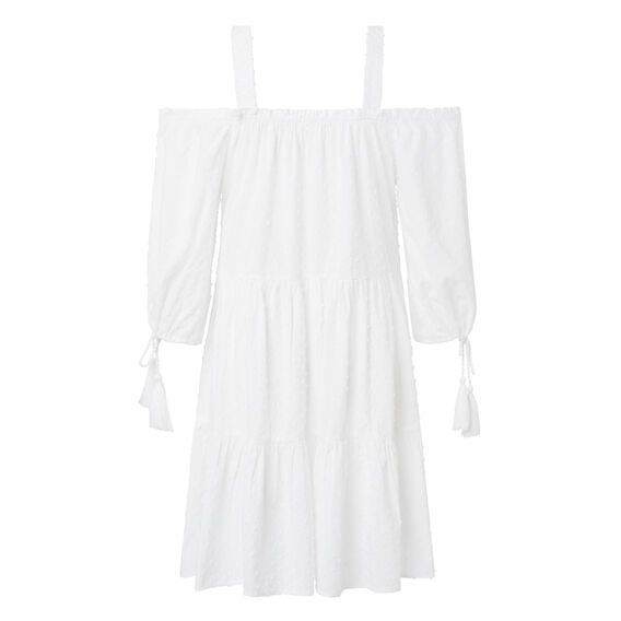 Dobby Resort Dress  WHITE  hi-res