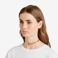 Knot Snake Chain Necklace  GOLD  hi-res