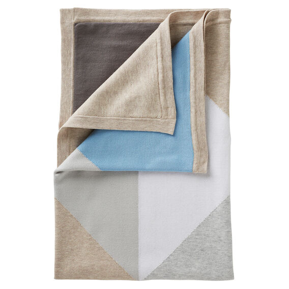 Colour Block Blanket  PASTEL BLUE  hi-res