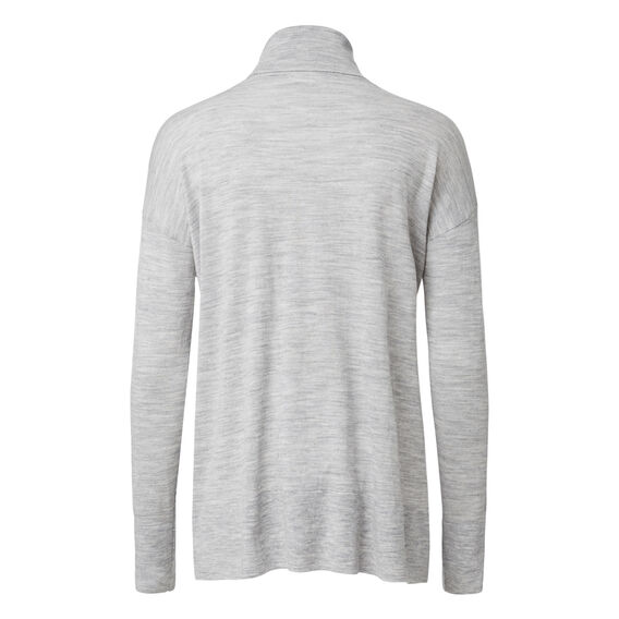 Babywool Roll Neck Jumper  MID GREY MARLE  hi-res