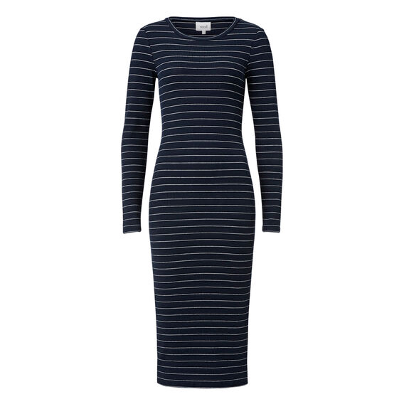 Slim Fit Long Sleeve Dress  DEEP NAVY/WHT STRIPE  hi-res