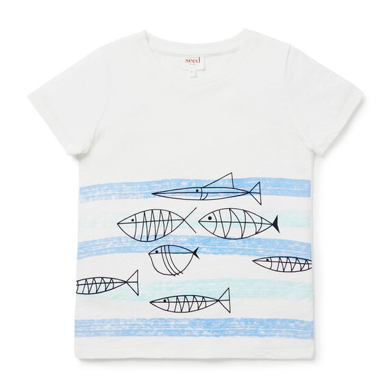 Fish Wave Tee  VINTAGE WHITE  hi-res