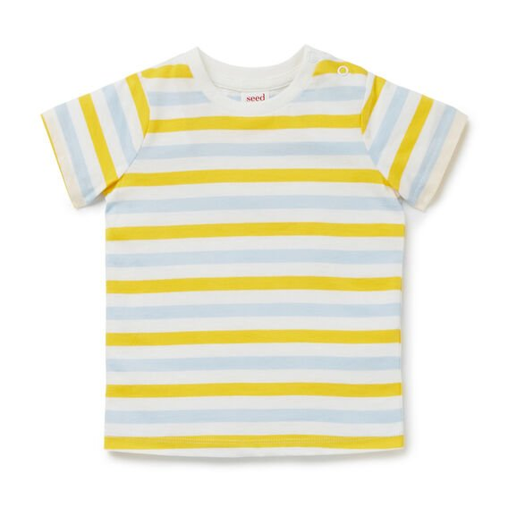 Multi Stripe Tee  LION YELLOW  hi-res