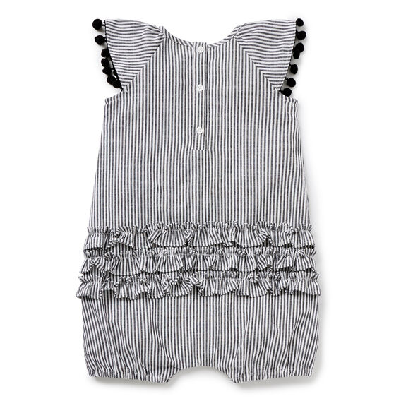 Frill Stripe Romper  CEMENT GREY  hi-res
