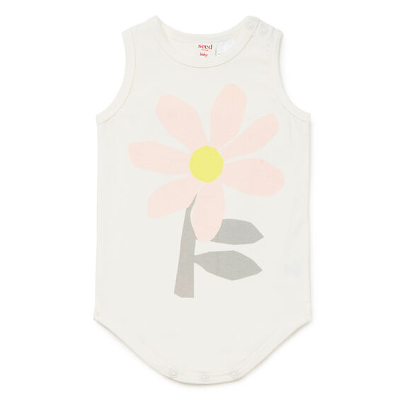 Big Flower Bodysuit  CANVAS  hi-res