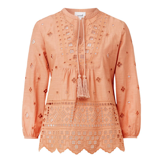 Blush Broderie Blouse  ROSE BLUSH  hi-res