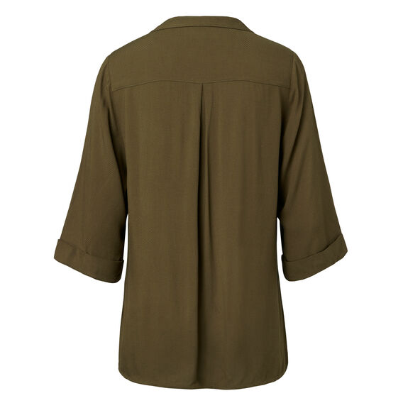 Dobby Textured Wrap Top  SUMMER OLIVE  hi-res