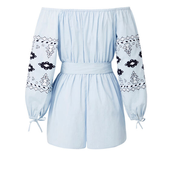 Embroidered Jumpsuit  ICE BLUE CHAMBRAY  hi-res