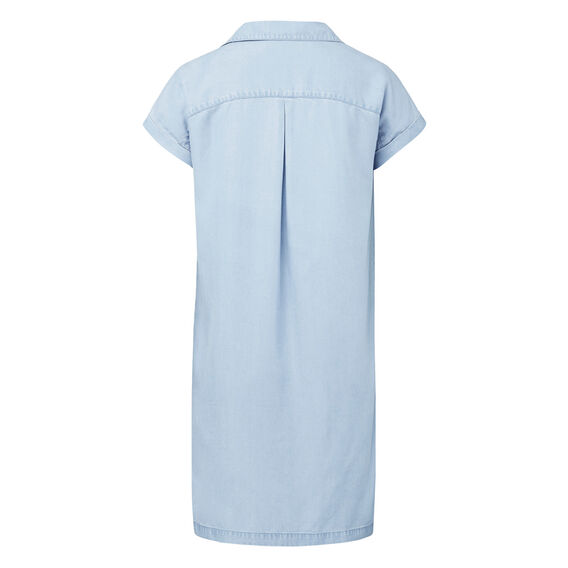 Tencel Shirt Dress  VINTAGE CHAMBRAY  hi-res