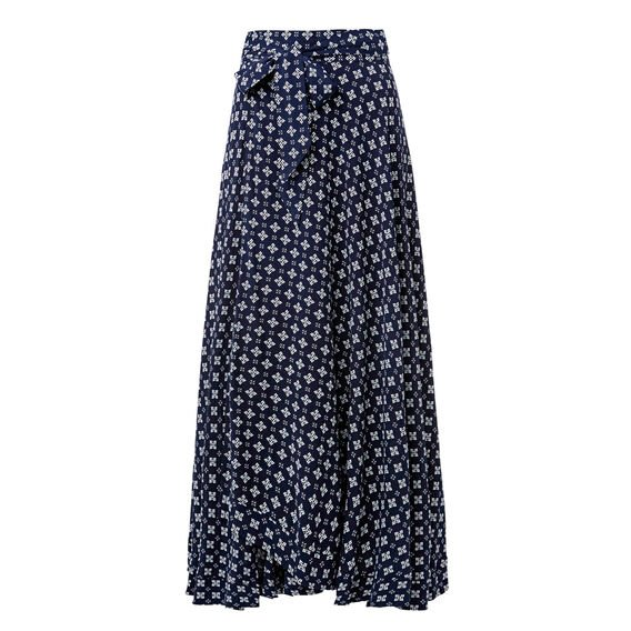 Tie Waist Maxi Skirt  MULTI  hi-res