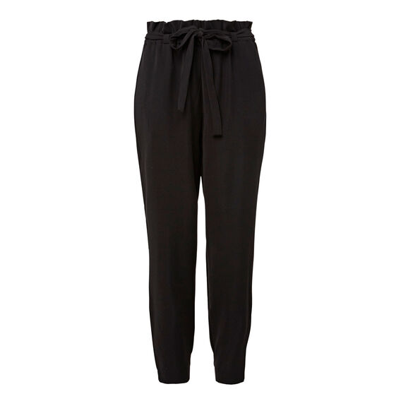 Gathered Waist Pant  BLACK  hi-res