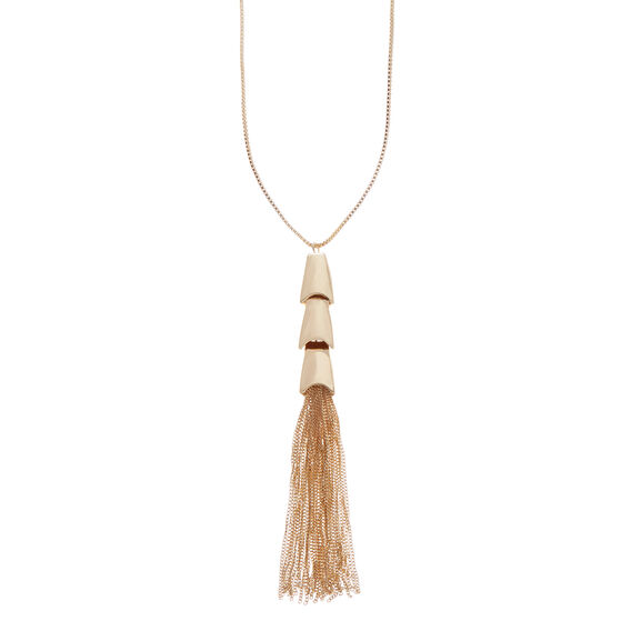 Tiered Tassel Necklace  GOLD  hi-res