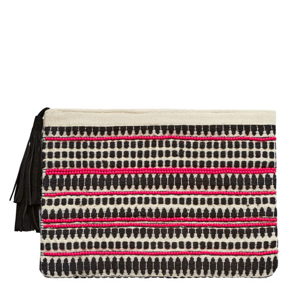 Amalie Beaded Clutch  PINK  hi-res