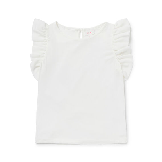 Ruffle Sleeve Tee  CANVAS  hi-res