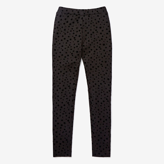 Star Flock Jegging  BLACK  hi-res