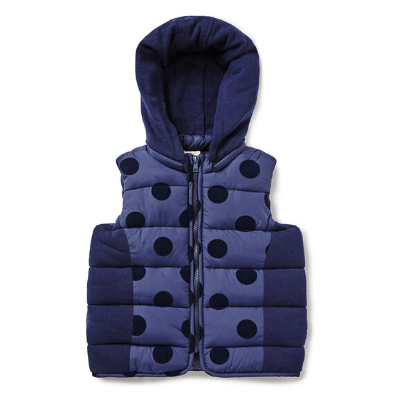 Splice Hooded Vest  NAVY  hi-res