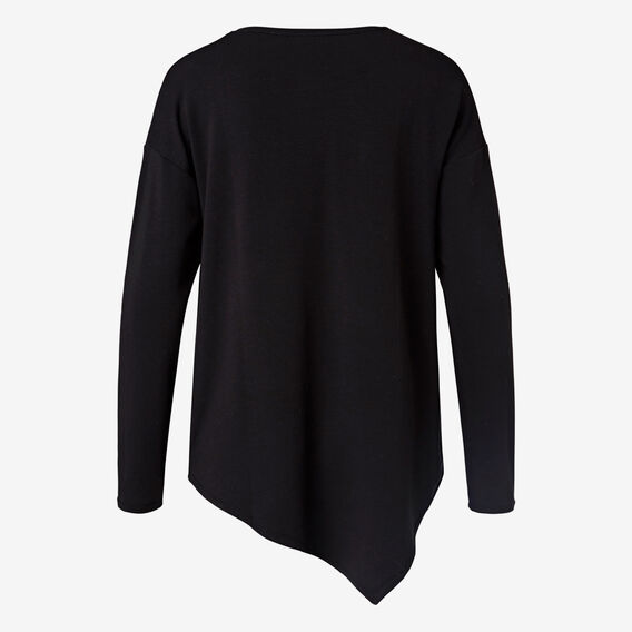 Cosy Asymmetrical Top  BLACK  hi-res