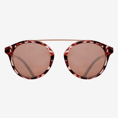 Round Top Bar Sunglasses  TORT  hi-res