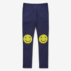 Smiley Knee Legging  NAVY  hi-res