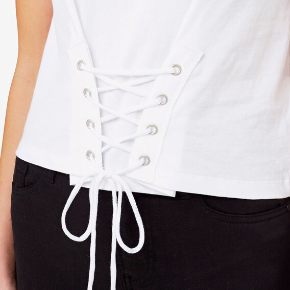 Tie Front Tee  BRIGHT WHITE  hi-res