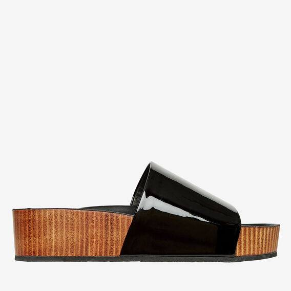 Prue Mule Slide  BLACK  hi-res