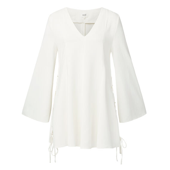 Collection Bell Sleeve Tie Top  CREAM  hi-res