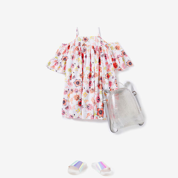 Floral Off Shoulder Dress  MULTI  hi-res