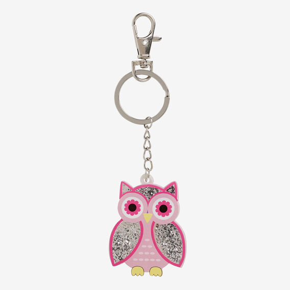 Owl Key Chain  PINK/SILVER  hi-res