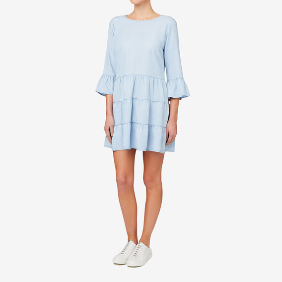 Tiered Chambray Dress  SPRING BLUE  hi-res