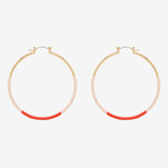 Two Tone Hoops  GOLD  hi-res