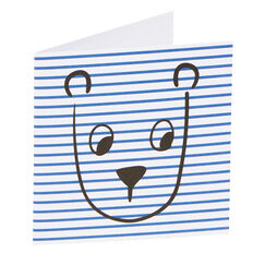 Stripe Bear Card