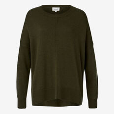 Oversized Zip Sweater  FOREST GREEN  hi-res