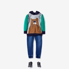 Novelty Bear Hoodie  PATCHY MARLE  hi-res
