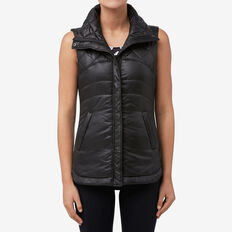 Wet Look Vest  BLACK  hi-res