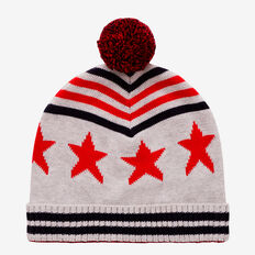 Stripe-Star Beanie  MULTI  hi-res