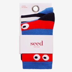 2 Pack Stripe-Eyes Socks  MULTI  hi-res