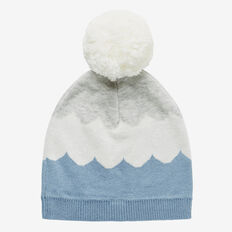 Knit Pom Pom Beanie  CLOUD BLUE  hi-res